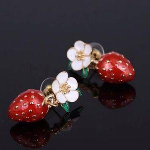 Picnic Perfect Strawberry Mini Drop Earings